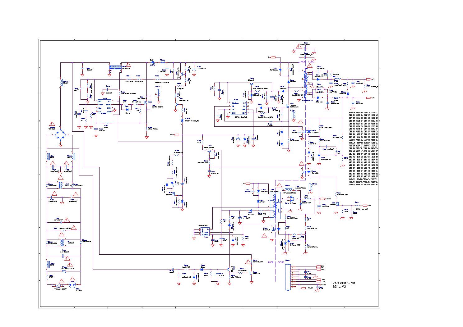 Схема телевизора шасси h схему телевизора